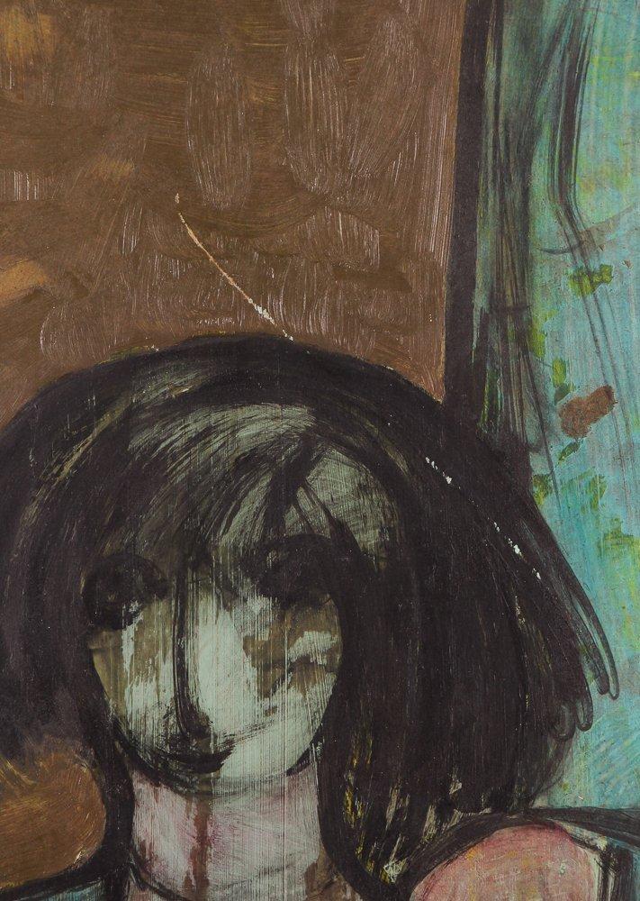 "Kamal Youssef 1963 painting ""Reunion"" - 6"