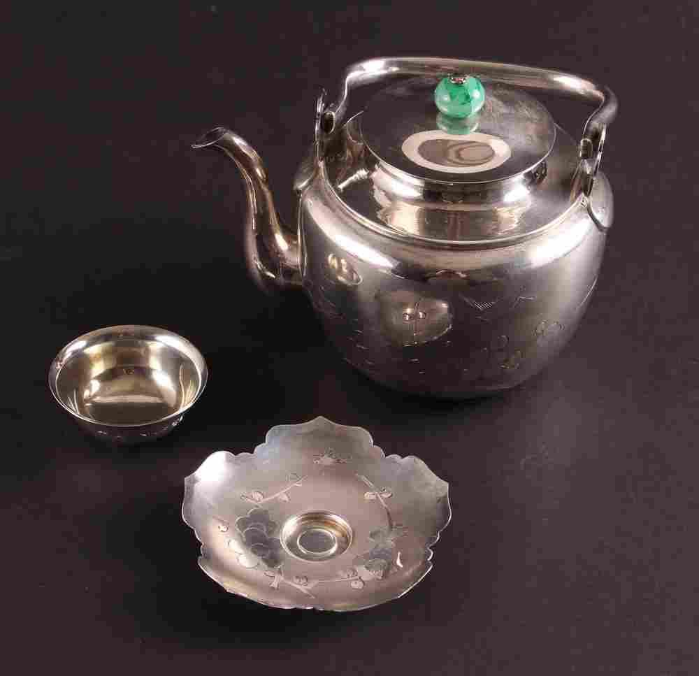 Asian Sterling Silver Tea Set