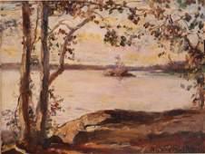 David Walkley oil Landscape Study