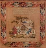 Pittsburgh Needlepoint Sampler dated1842
