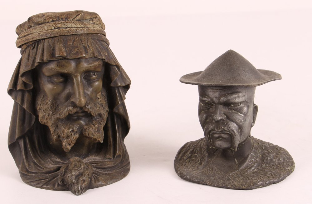 Two Antique Figural Inkwells