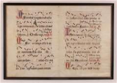 Illuminated Gregorian Musical Manuscript