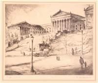 "Gaylord F Hardwick Wilkinson 1933 etching ""Philadelphia"
