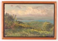 """Harry Orlyk oil on canvas """"Maine Coast"""""""