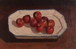 "John P. Semple painting ""Apples Still Life"""