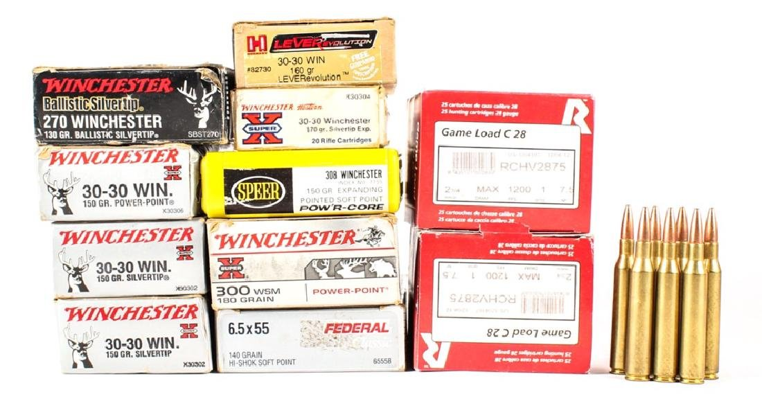 MIX LOT RIFLE AMMUNITION .30-30, 270 AND MORE