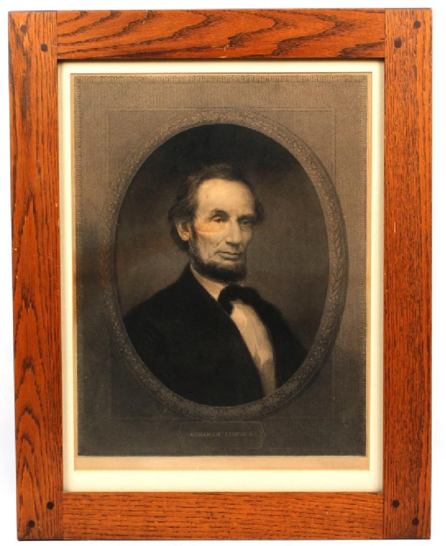 WILLIAM E MARSHALL- ABRAHAM LINCOLN ENGRAVING 1890
