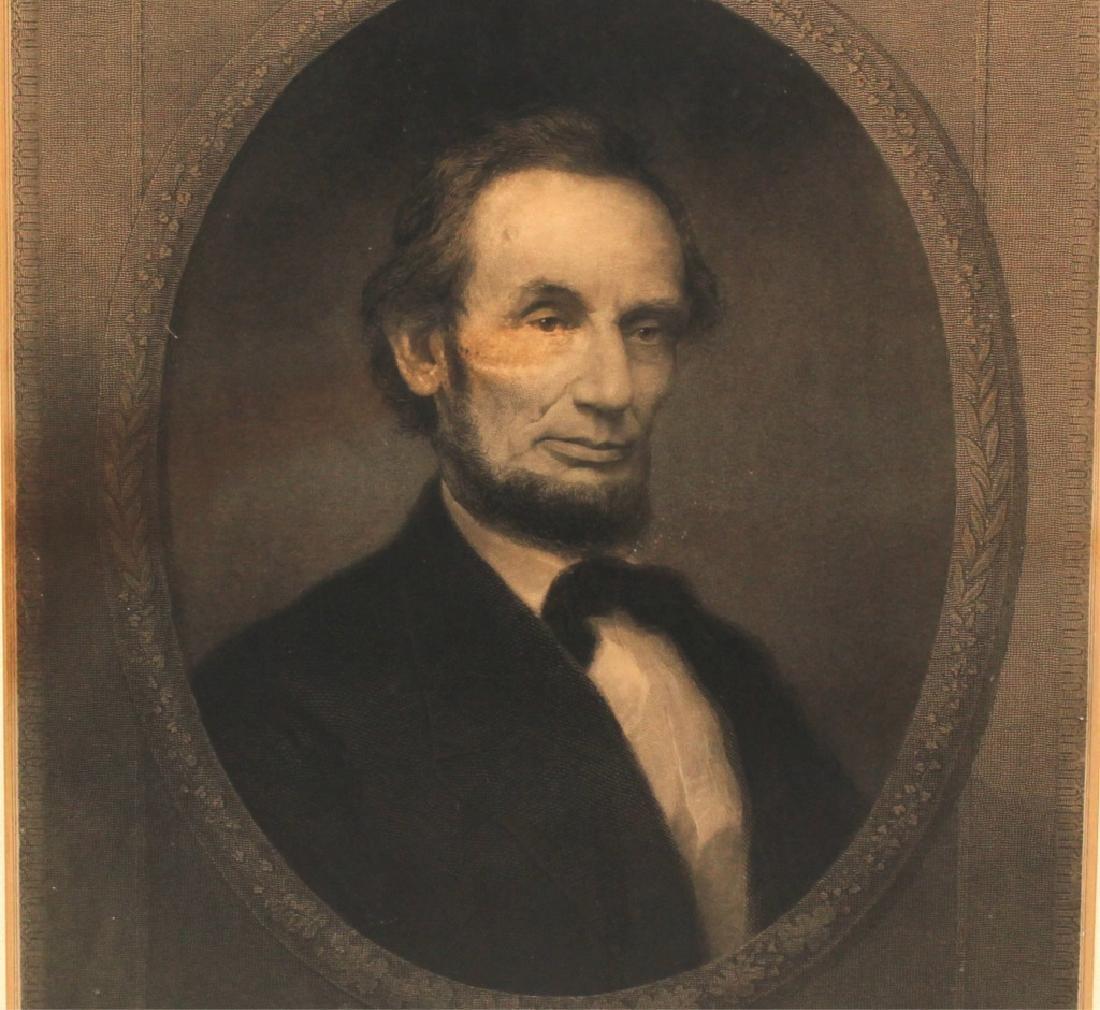 WILLIAM E MARSHALL- ABRAHAM LINCOLN ENGRAVING 1890 - 2