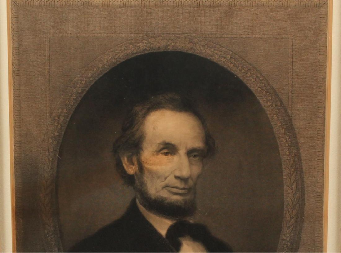 WILLIAM E MARSHALL- ABRAHAM LINCOLN ENGRAVING 1890 - 3