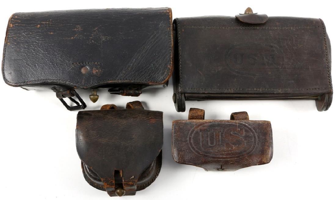 CIVIL WAR CARTRIDGE BOX LOT OF 4