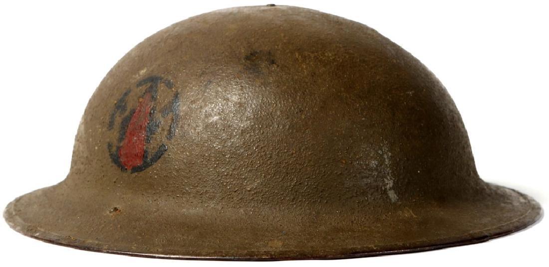 WWI US 89th DIVISION BRODIE HELMET