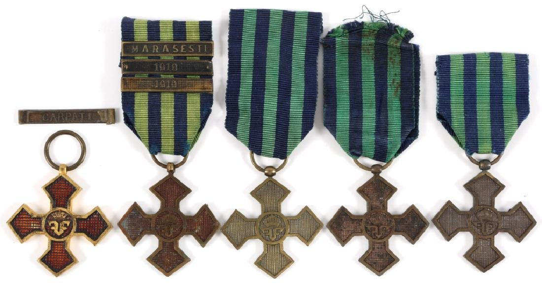 ROMANIAN WWI WAR CROSS MEDAL LOT OF 5