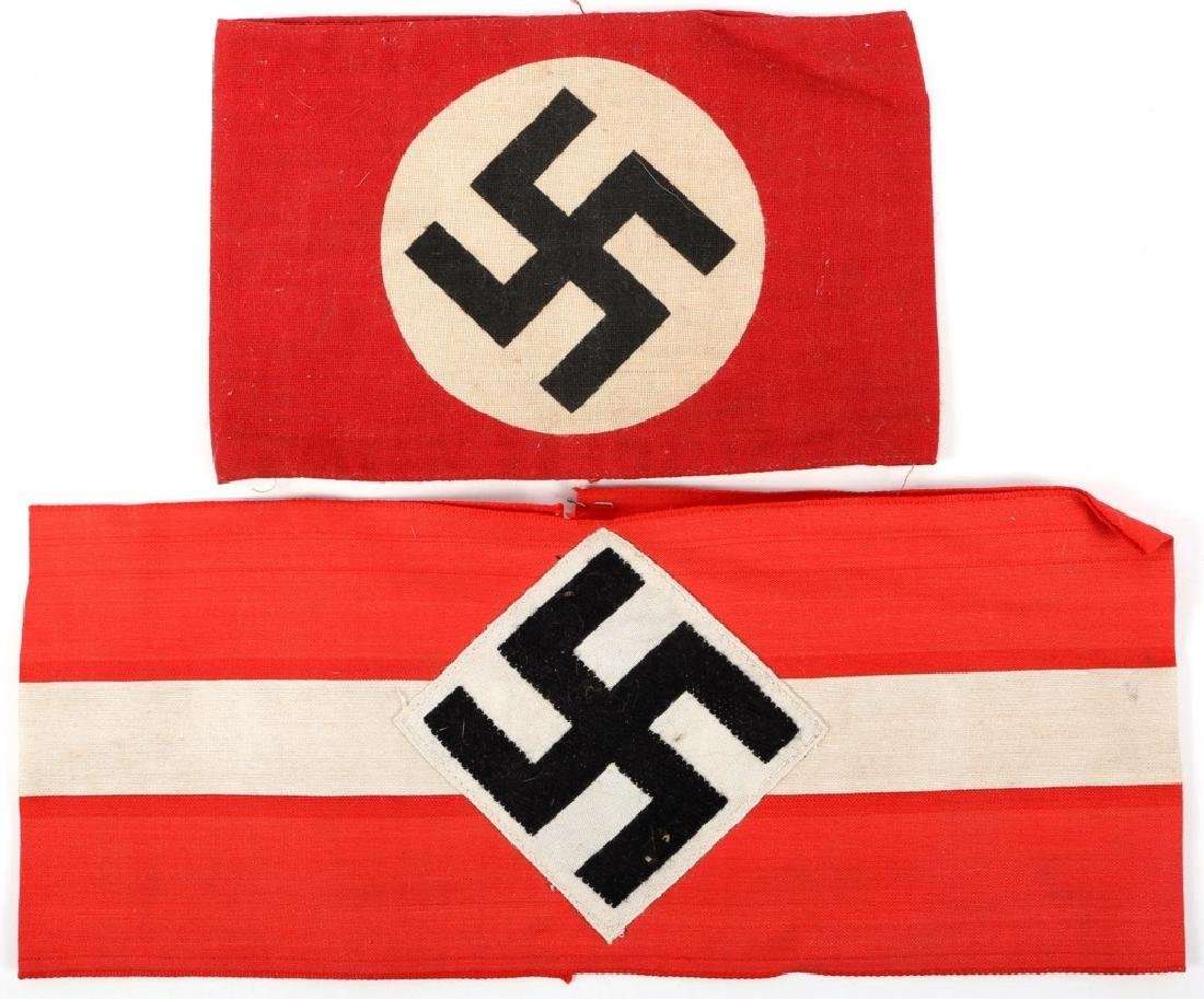 WWII GERMAN ARMBAND LOT OF 2 HITLER YOUTH