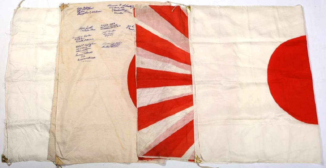 WWII JAPANESE FLAG LOT OF 4