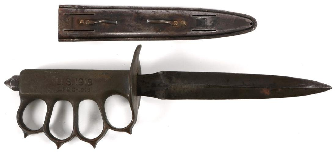 WWI 1918 US KNUCKLE DUSTER TRENCH KNIFE