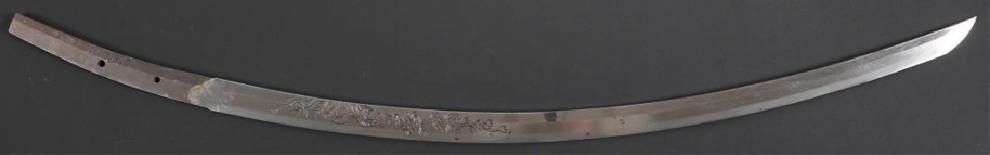 JAPANESE KATANA WITH SNAKE HORIMONO-SUKEYOSHI 1862 - 3
