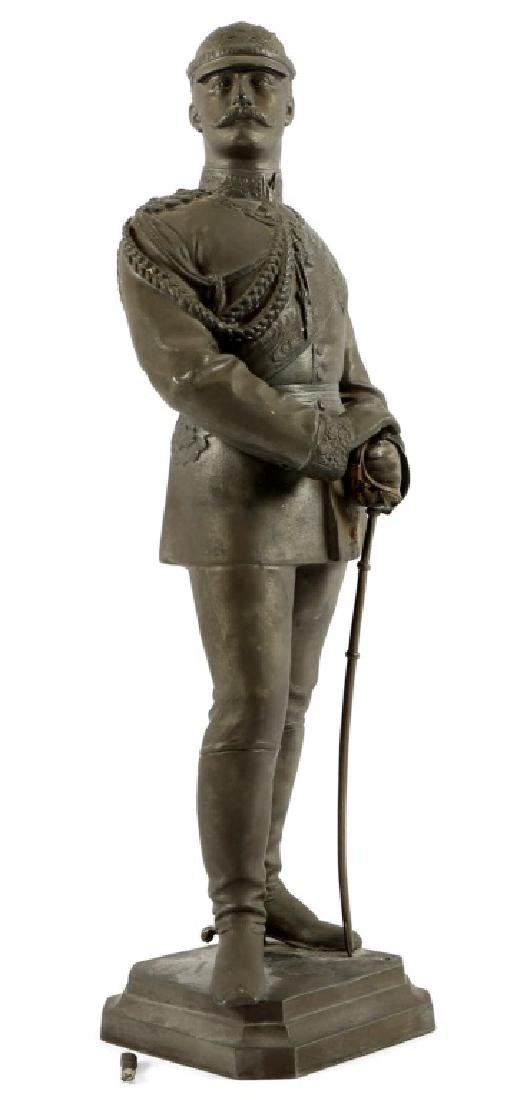 GERMAN IMPERIAL STATUE OF THE KAISER GUILLAUME II