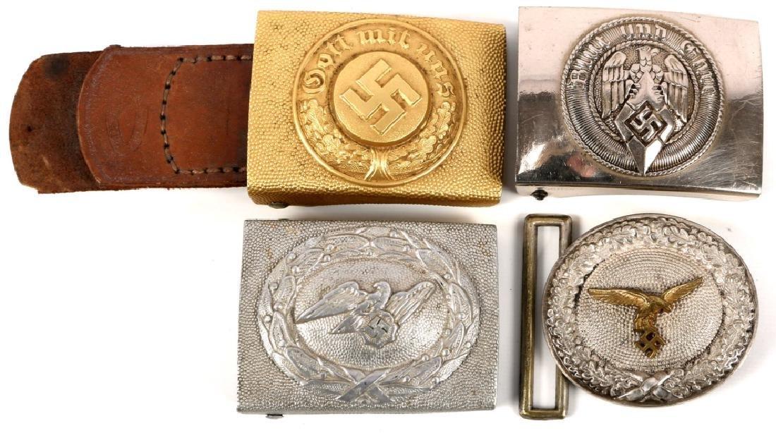 WWII GERMAN BELT BUCKLE LOT OF 4