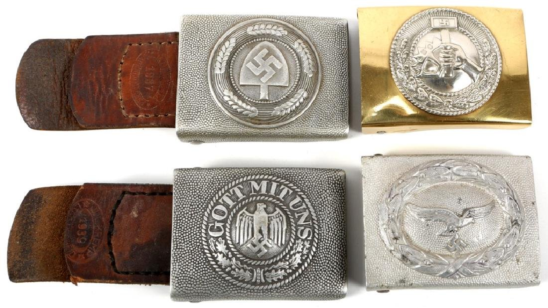WWII GERMAN BELT BUCKLE LOT OF 4