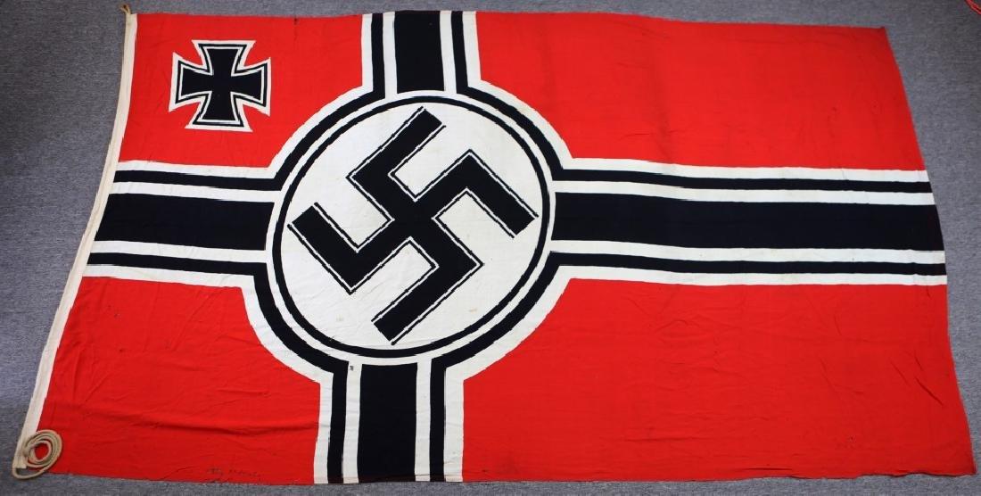 WWII LARGE GERMAN KRIEGSMARINE FLAG