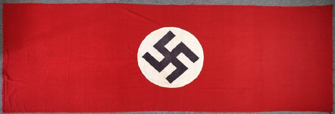 WWII LARGE GERMAN POLITICAL BANNER FLAG