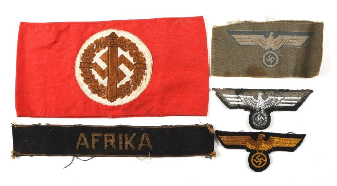 LOT OF WWII GERMAN CLOTH ITEMS