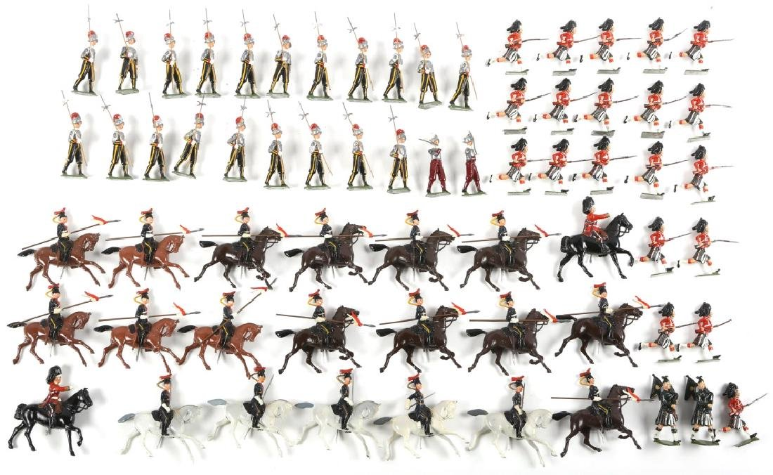 BIG LOT OF BRITAINS FIGURES SOLDIERS AND CAVALIERS
