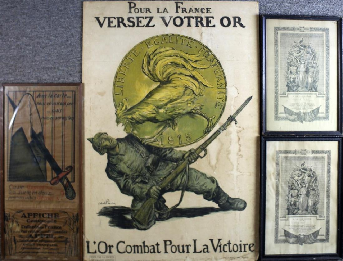 WWI FRENCH POSTER LOT OF 4
