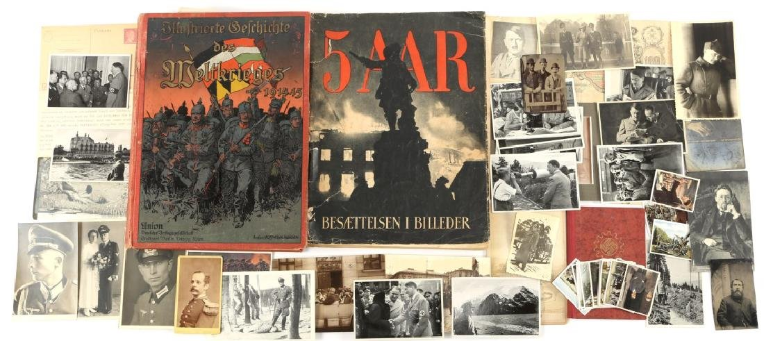 MIXED LOT OF BOOKS SOLDIERS PHOTOS AND MORE
