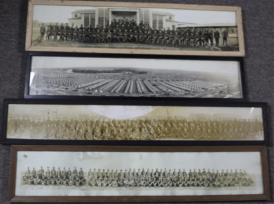 US MILITARY YARD LONG PHOTOGRAPHS LOT OF 4