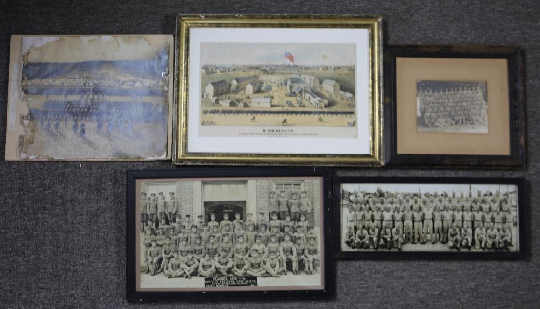 US MILITARY YARD LONG PHOTOGRAPHS LOT OF 5