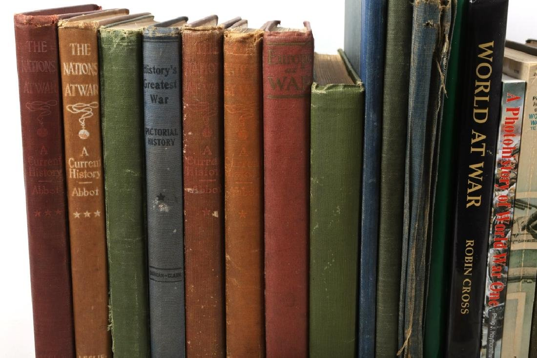 MILITARY WWI REFERENCE BOOKS 75LB