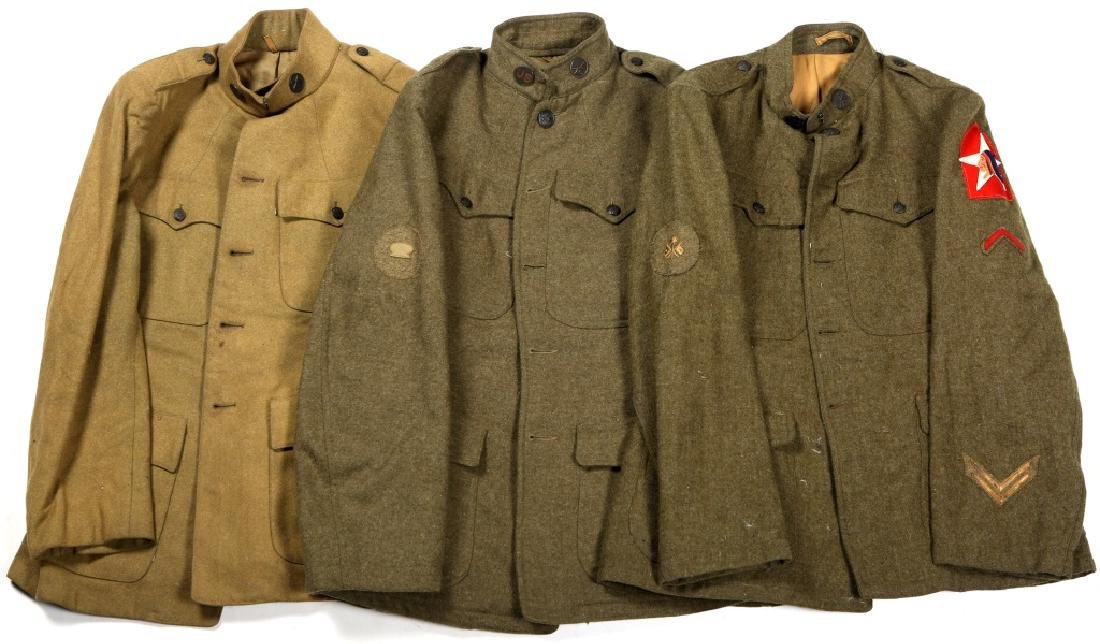 WWI US MILITARY JACKET LOT OF 3