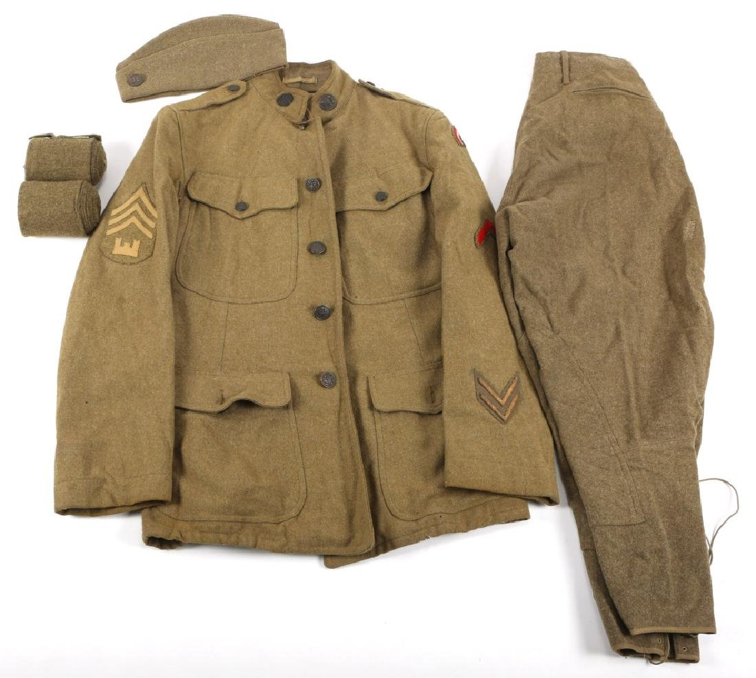 WWI US ARMY 42nd INFANTRY DIVISION UNIFORM GROUP