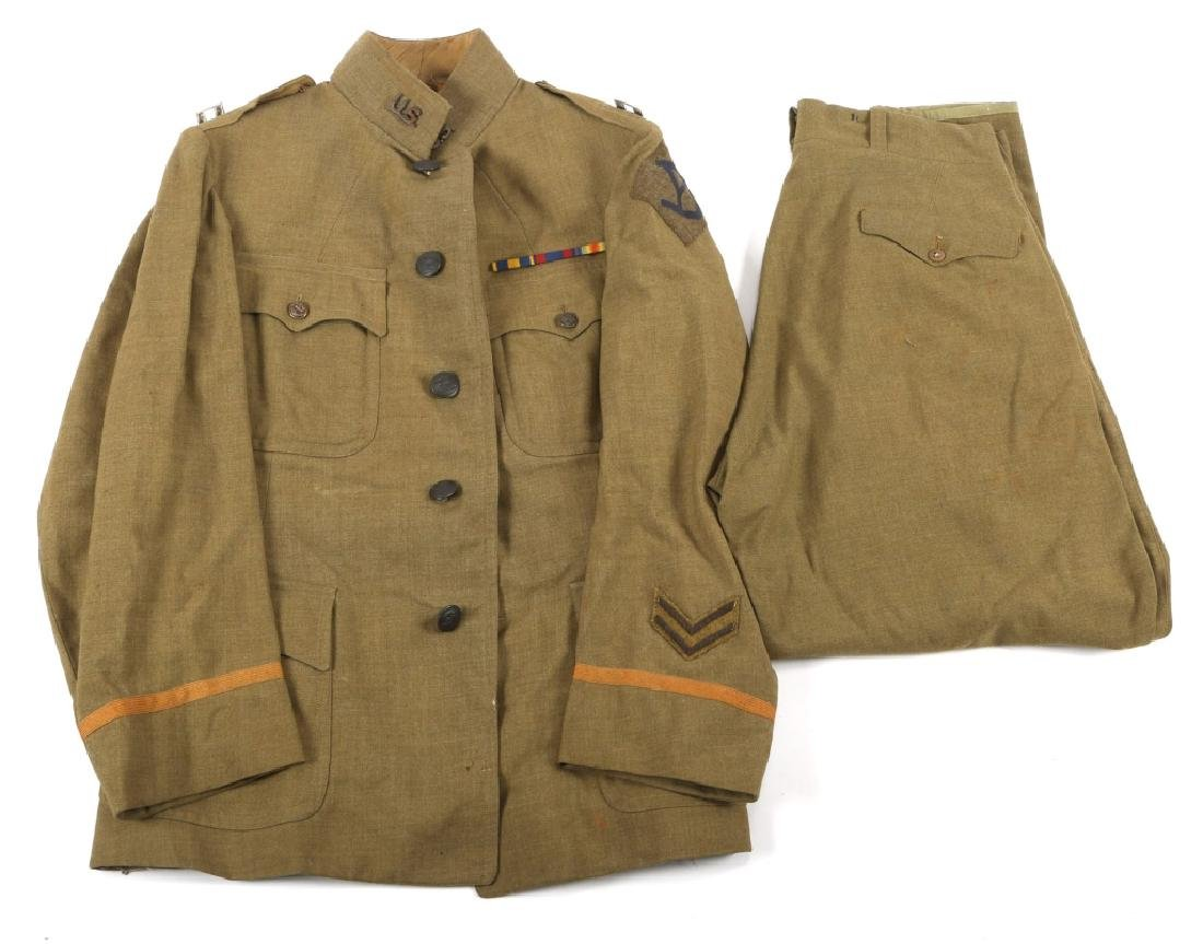 WWI 26th INFANTRY DIVISION OFFICER UNIFORM