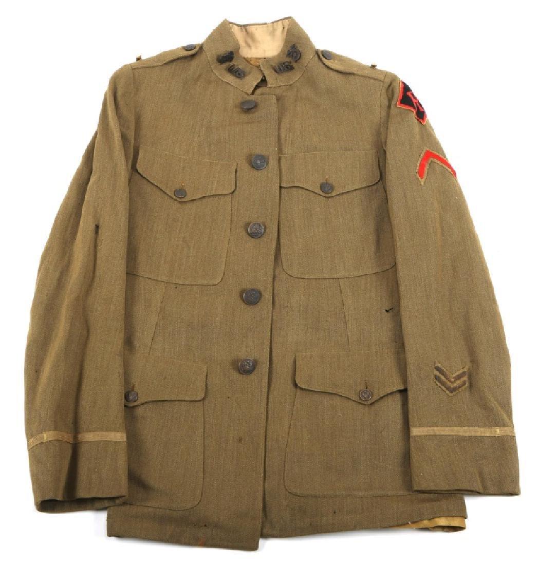 WWI US ARMY RAILHEAD OFFICER UNIFORM TUNIC