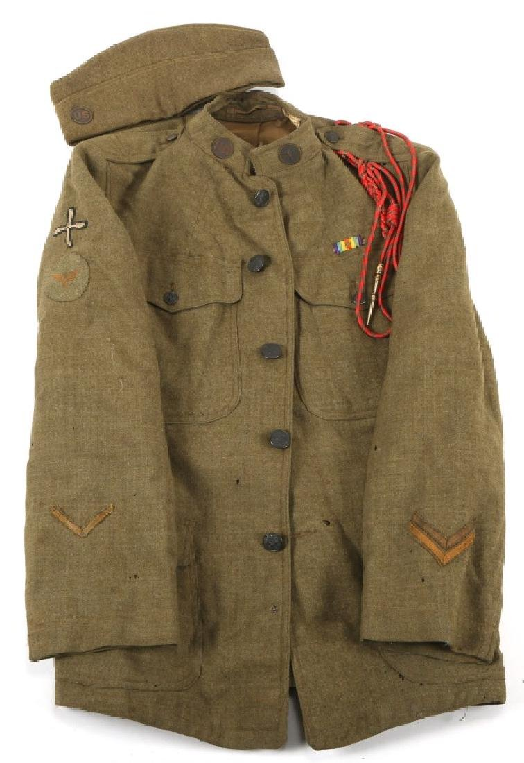 WWI US ARMY AIR SERVICE UNIFORM AND HAT