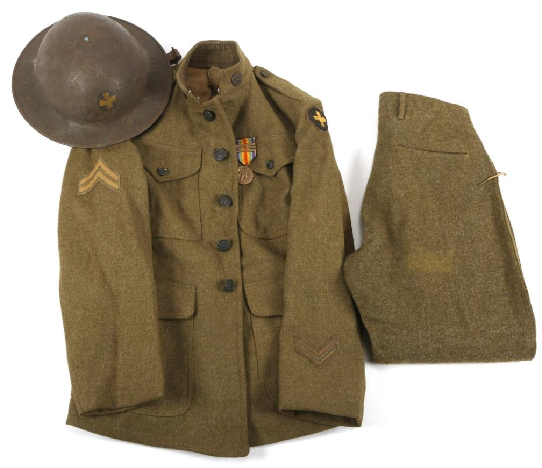 WWI US ARMY 33rd INFANTRY 124th MG UNIFORM GROUP
