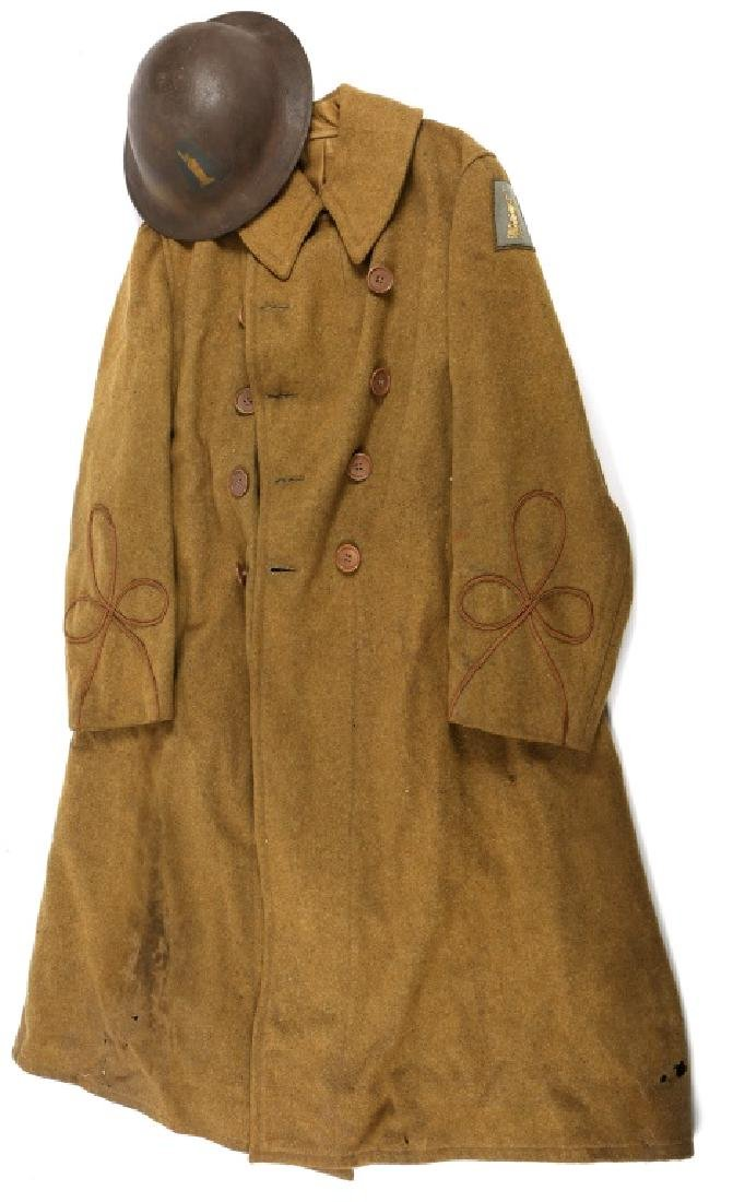 WWI US ARMY 77th INFANTRY OFFICER COAT AND HELMET