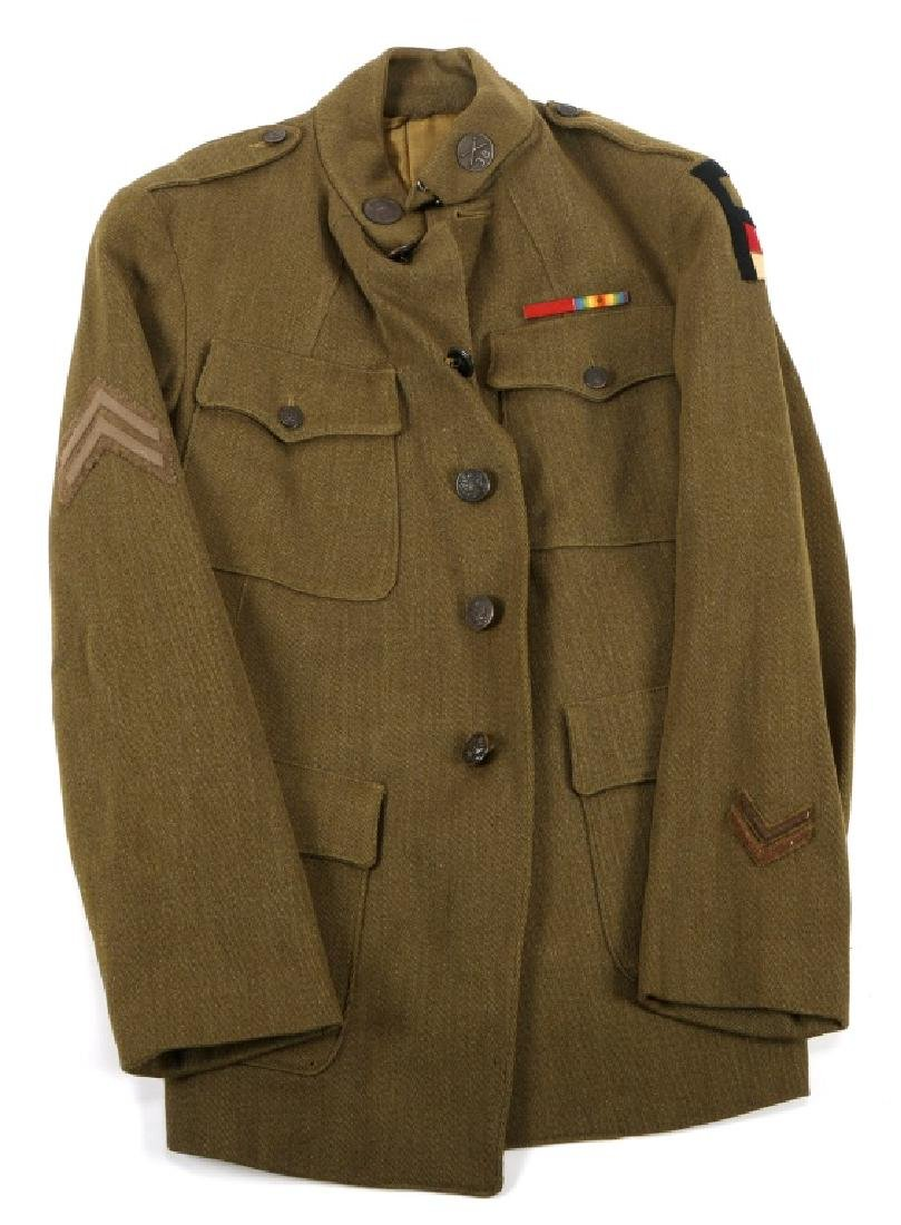 WWI US 1st  ARMY ARTILLERY CORPORAL TUNIC UNIFORM