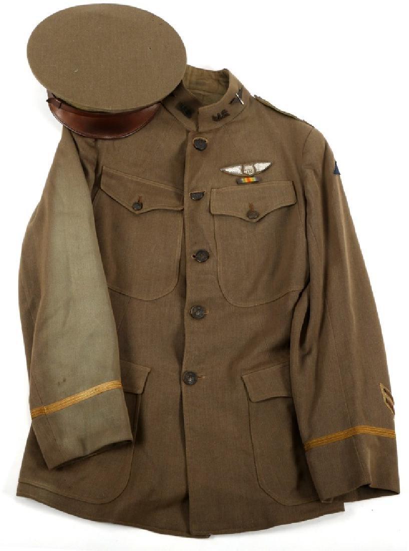 WWI US III CORPS 88th AERO SQ PILOT TUNIC & WINGS