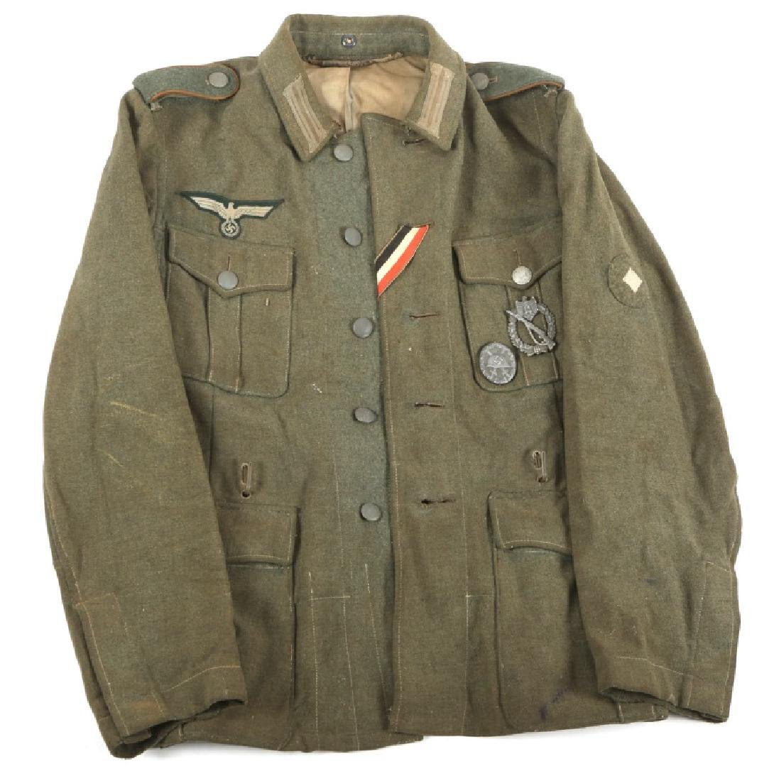 WWII GERMAN M40 COMBAT INFANTRY TUNIC WITH BADGES