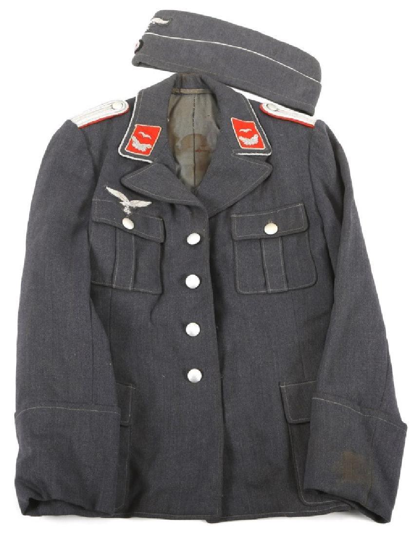 WWII GERMAN LUFTWAFFE ANTI AIRCRAFT OFFICER TUNIC