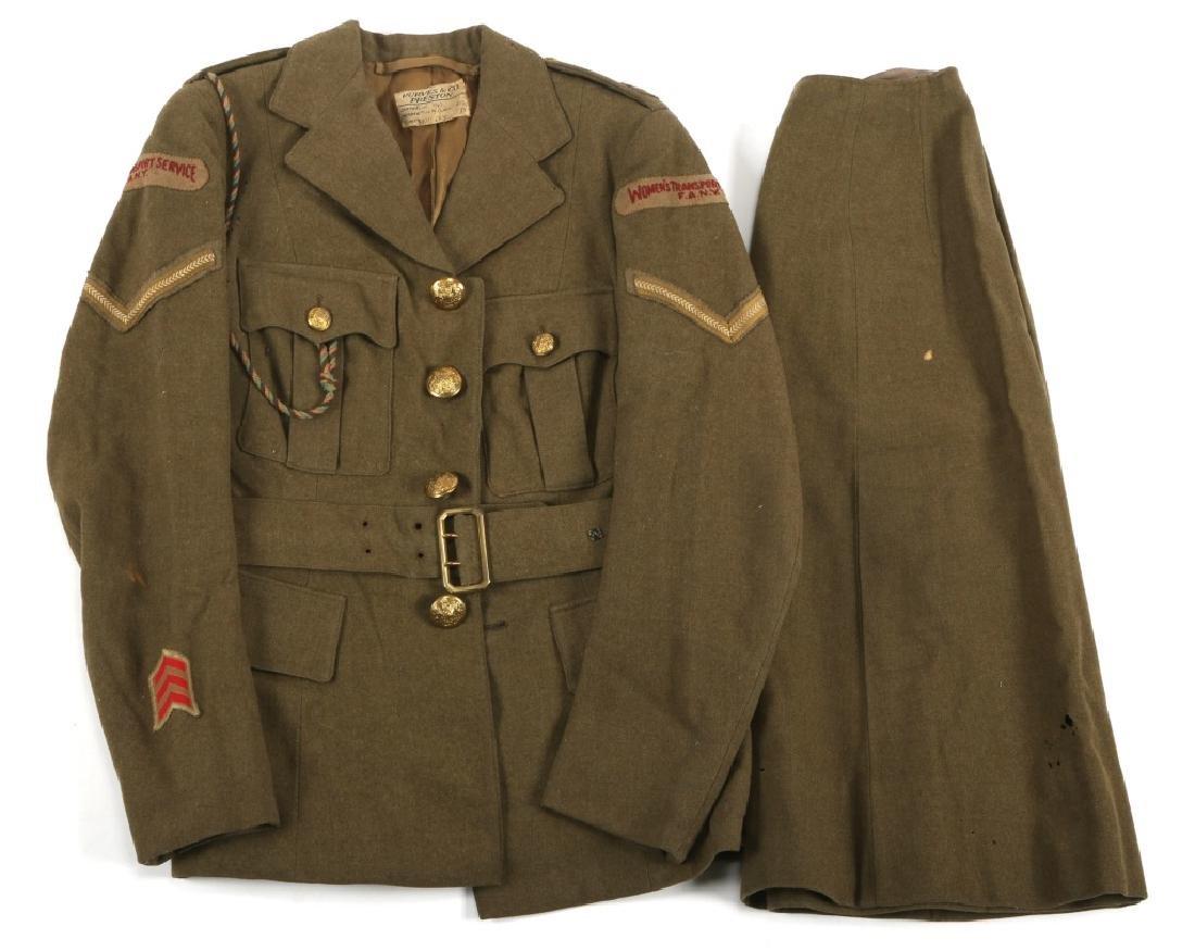 WWII BRITISH WOMAN TRANSPORT SERVICE NAMED UNIFORM