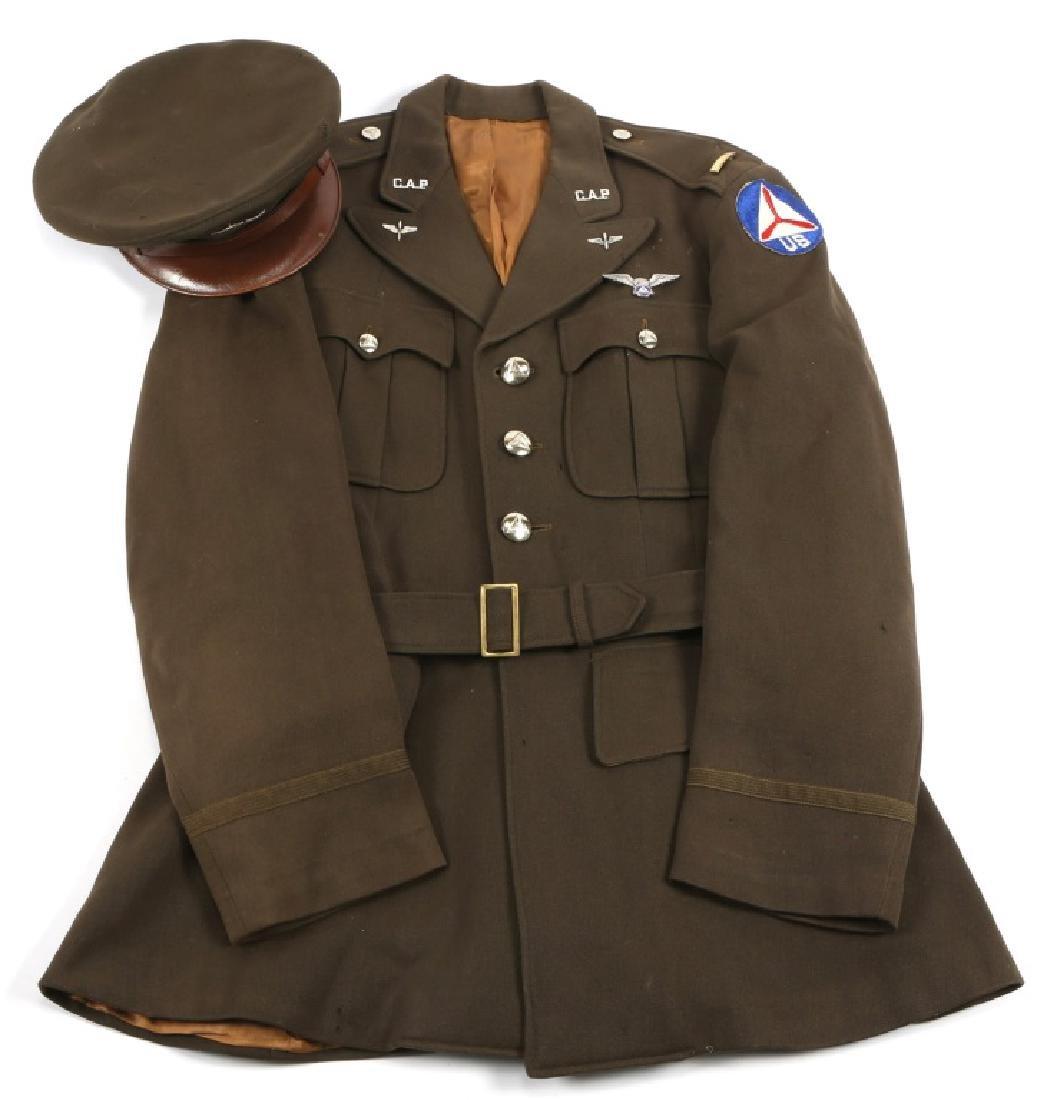 WWII US CIVIL  AIR PATROL OFFICER UNIFORM & WINGS