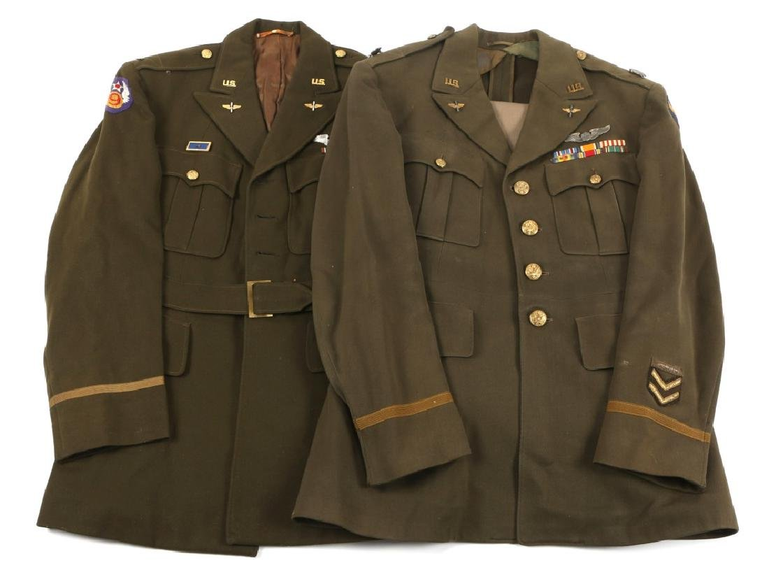 WWII US ARMY AIR FORCE OFFICER UNIFORM LOT OF 2