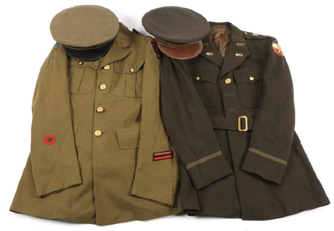WWII US OFFICER ROTC UNIFORM AND HAT LOT OF 2