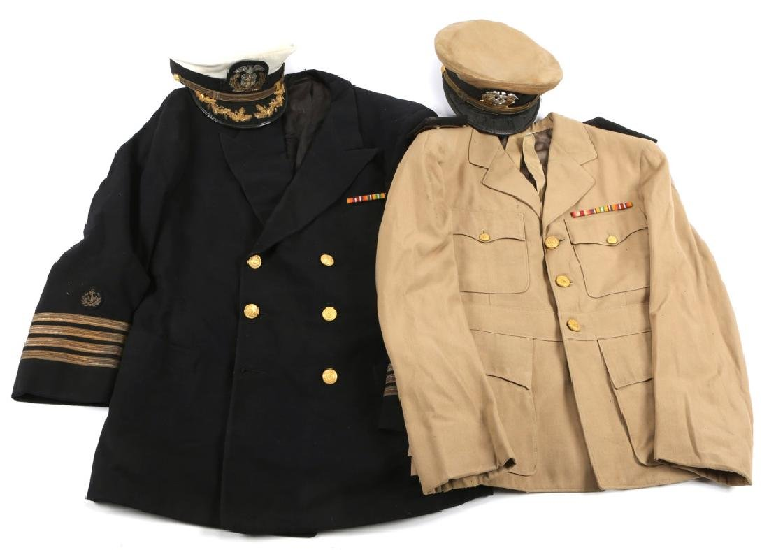 WWII US MARITIME SERVICE OFFICER UNIFORM LOT OF 2