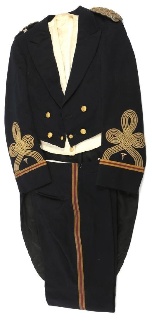WWII US MEDICAL CORPS NAMED EVENING DRESS UNIFORM