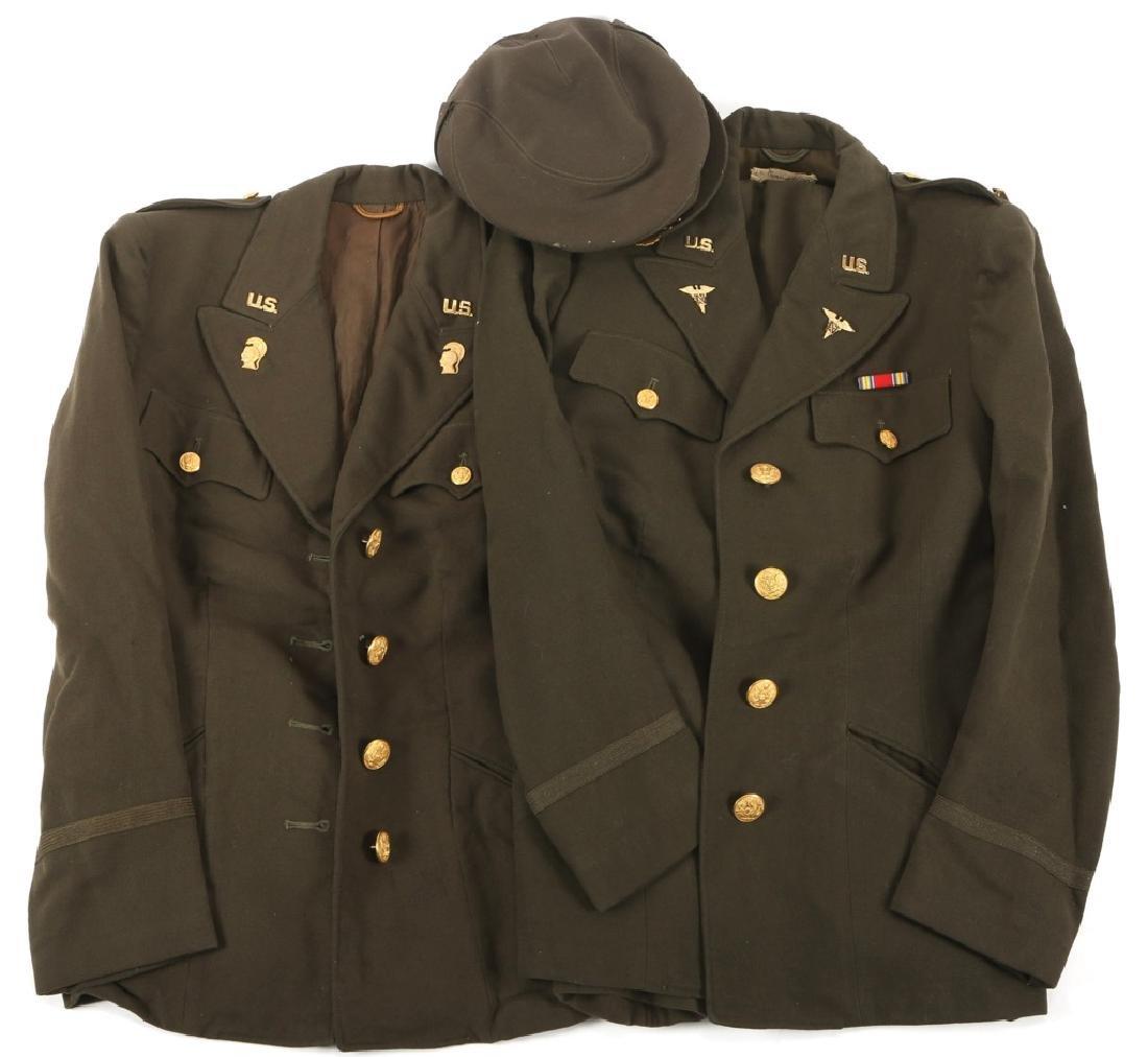 WWII US ARMY WAAC OFFICER NURSE UNIFORM LOT